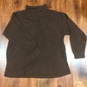 X-Large Brown Turtle Neck Shirt